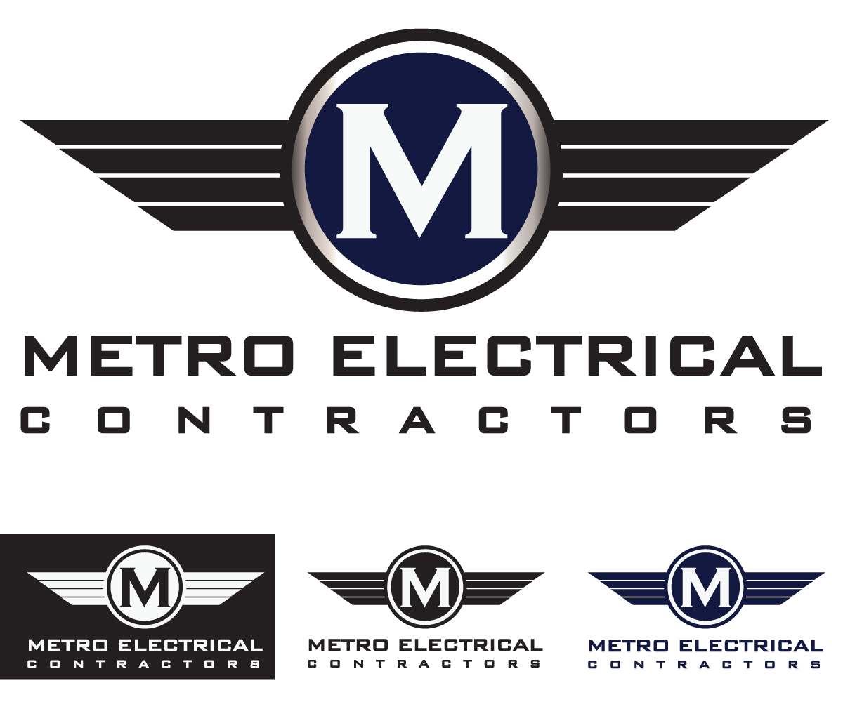 electrical logo design for metro electrical contractors by