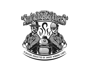 Logo Design by alpino - The Smoking Brothers: South American style cate...