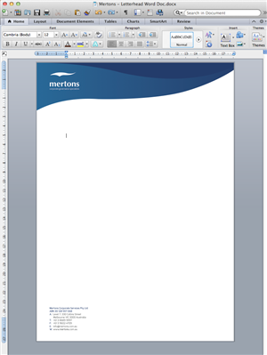 How to design a letterhead in word acurnamedia how spiritdancerdesigns Image collections
