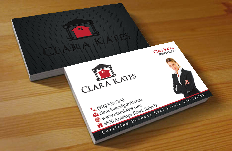 Business Card Design for Clara Kates by Hardcore Design | Design ...