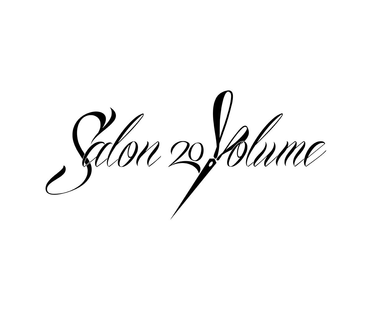 boutique logo design for salon 20volume by terrypen