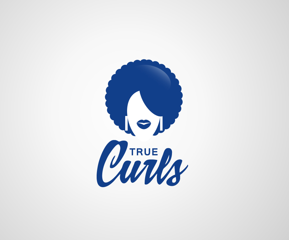 hair logo design for true curls by artistik design 3636013