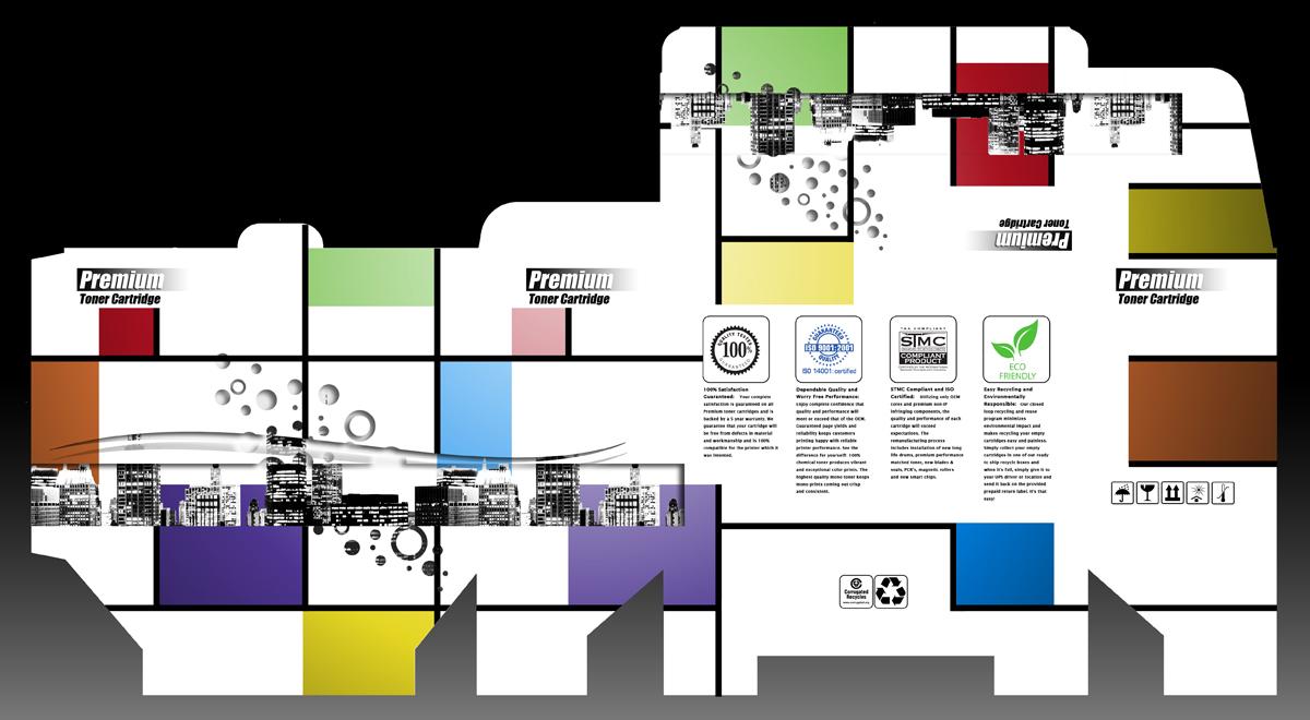 Environment Design d'Emballage for Digitek Computer