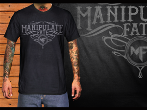 T-shirt Design by cth - Manipulate Fate Text T-shirt