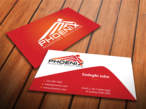 86 modern business card designs roofing business card design business card design by mediaproductionart for phoenix roofing solutions design 3647570 colourmoves