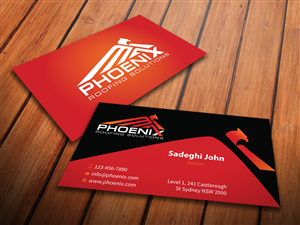 business card design by mediaproductionart for phoenix roofing solutions design 3647575 - Roofing Business Cards