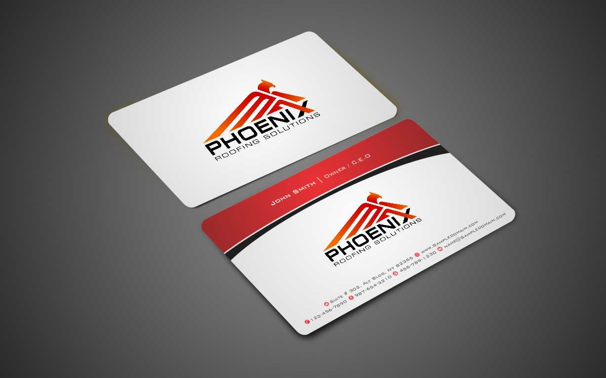 Modern professional roofing business card design for phoenix business card design by xtremecreative45 for phoenix roofing solutions design 3653956 colourmoves