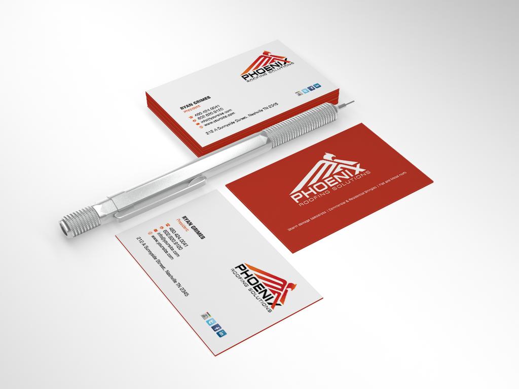 Business card design by sarah mathews business card for Business cards roofing design