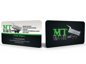 Business Card Design by Hardcore Design - Demo, Strip out Rubbish and Asbestos Removal