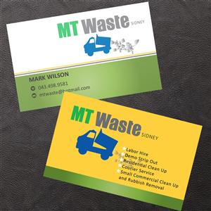 19 masculine business card designs business business card design business card design by venus l penaflor for mt waste design 3666742 colourmoves