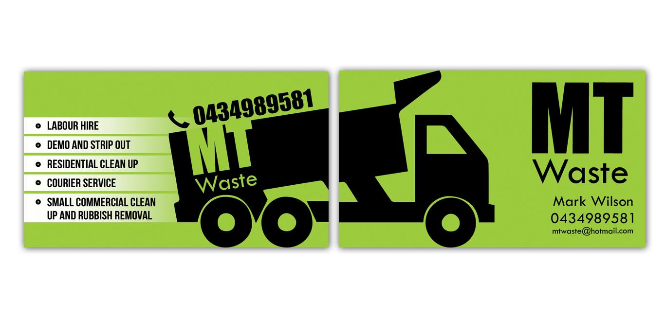 Masculine bold business business card design for mt waste by business card design by tale026 for mt waste design 3665846 colourmoves
