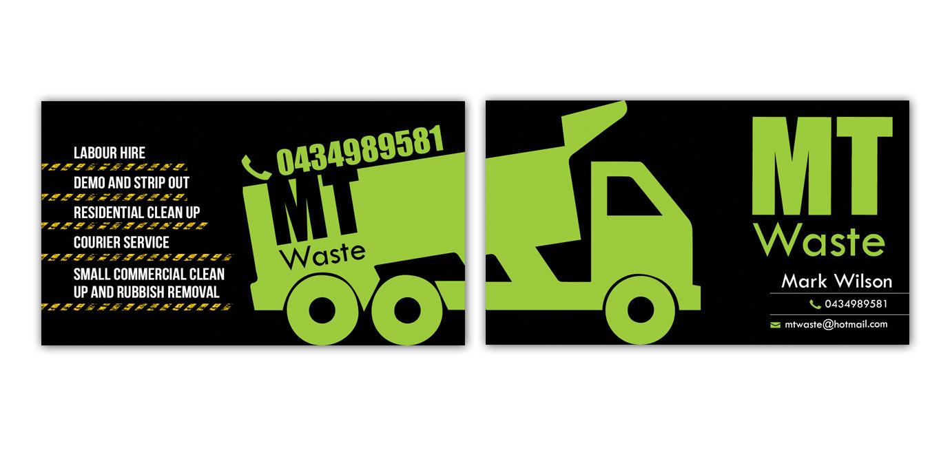 Masculine bold business business card design for mt waste by business card design by tale026 for mt waste design 3665848 colourmoves