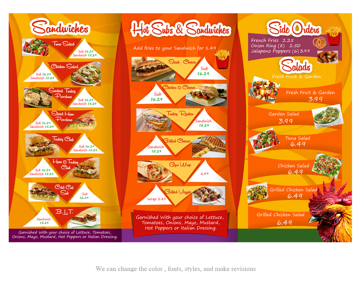 16 Colorful Bold Cafe Menu Designs for a Cafe business in United ...