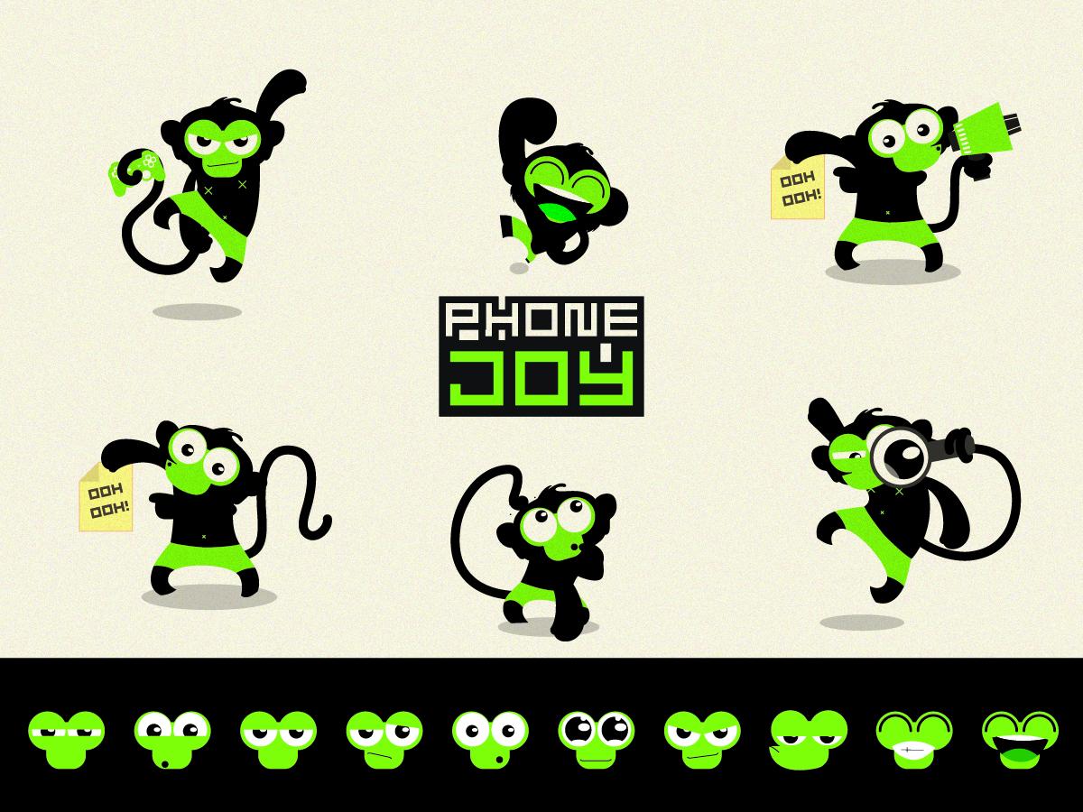 Character Design Hong Kong : Spielerisch fett character design for phonejoy solutions