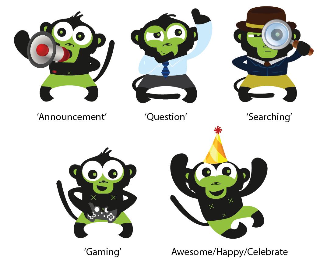Character Design Hong Kong : Playful bold it company character design for phonejoy