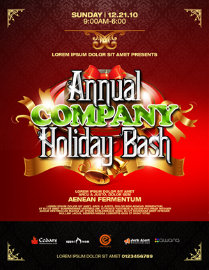 Flyer Design job – Holiday Party Flyer Template – Winning design by disign
