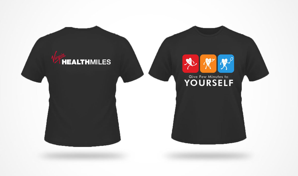 modern playful t shirt design for virgin healthmiles by