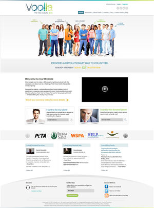 Web Design by Kreative Ideaz - Volunteer Marketplace Needs New Look - www.Vool...