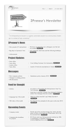 Newsletter Design by Purpletouch