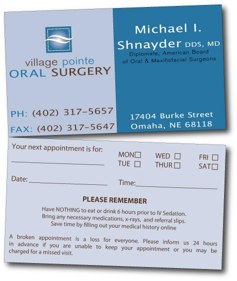 Business business card design for village pointe oral surgery by business business card design for village pointe oral surgery in united states design 105548 colourmoves