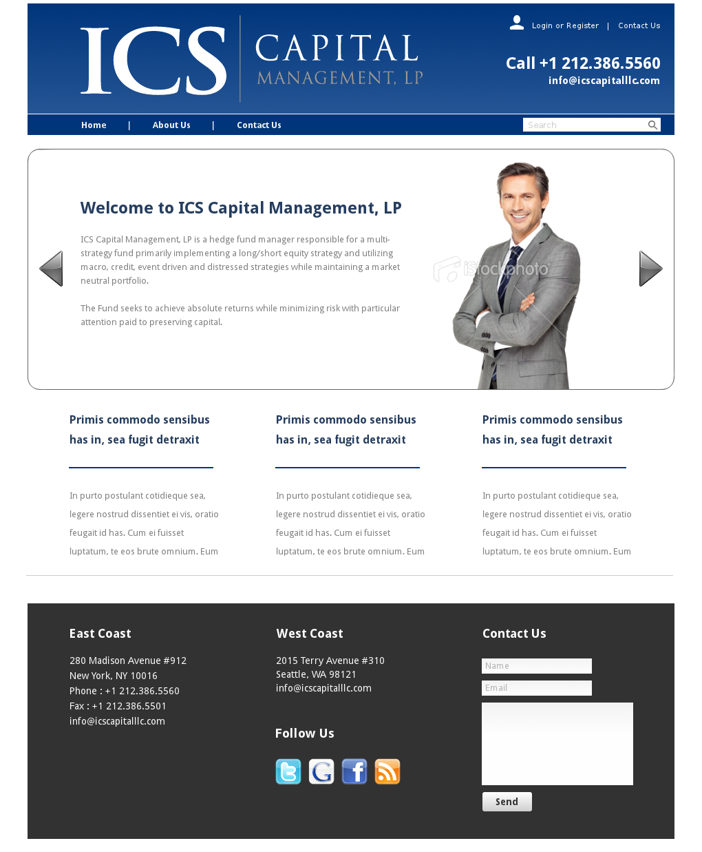 Elegant Professional Investment Web Design For A Company By Relativiteit Design 939454
