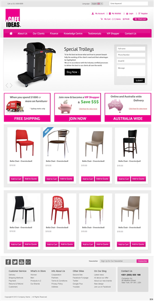 Furniture Website Design 944966