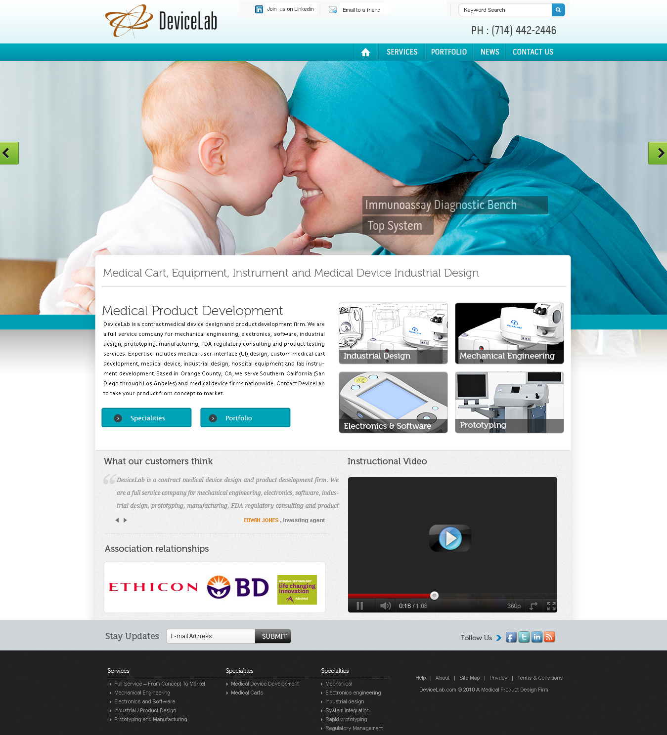 Medical wordpress design for a company by mr design 946906 for Medical design firms