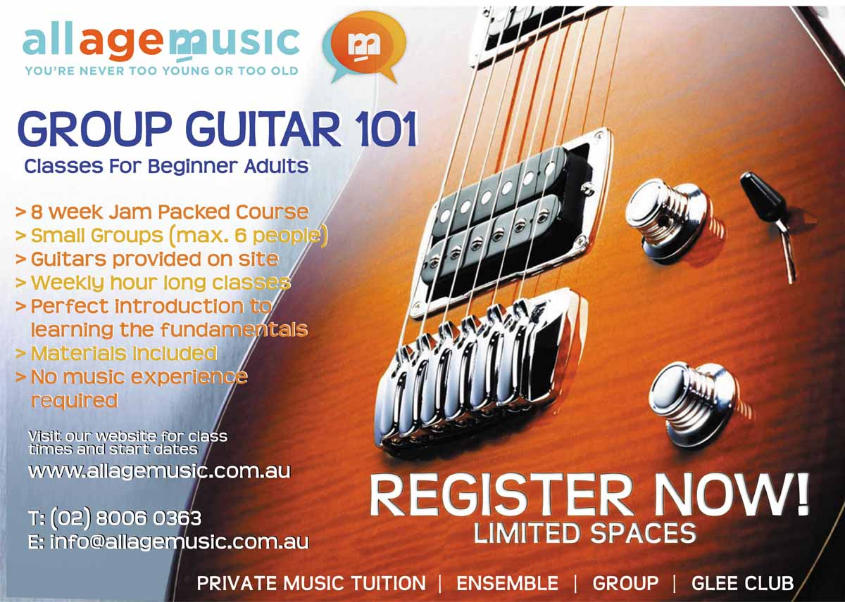 Poster design 101 - Poster Design By Chuzzle For Poster Design To Promote Adult Group Guitar Classes For Music School