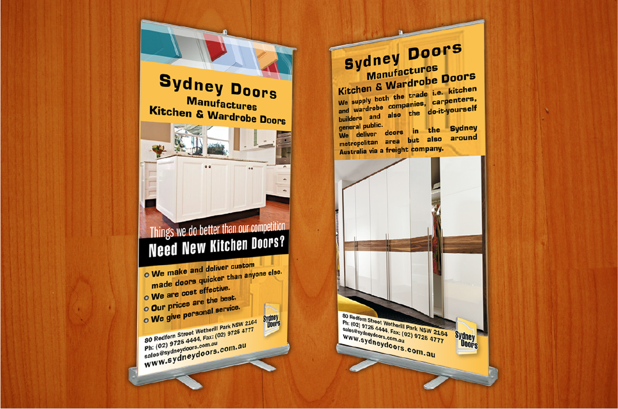 Personable, Modern, Trade Signage Design for Sydney Doors by