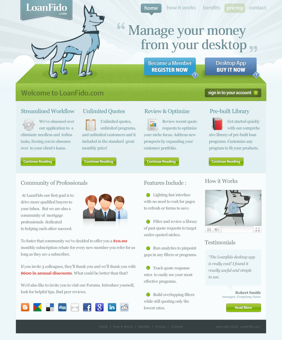 Web Design by Net Bloom for LoanFido Website - Trust and Fun - Design #117330