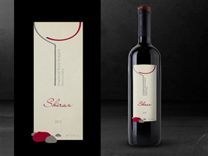 Graphic Design by vali - Wine Label Design-Shattered Rock Vineyard