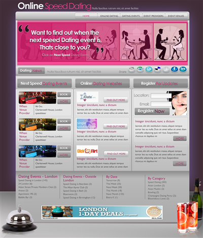 Cheap Event Website Design 115512