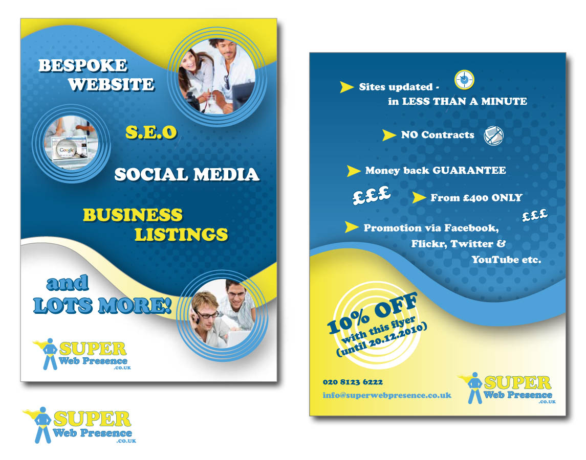 Bold, Modern, Business Directory Flyer Design for a Company by