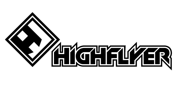bold modern clothing logo design for highflyer or highflyer