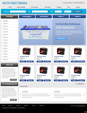 Automotive Website For New Product Design 987023