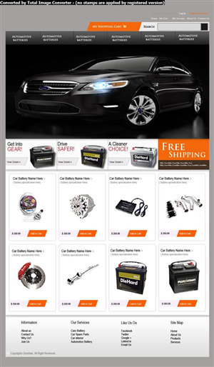 Automotive Website For New Product Design 1000919