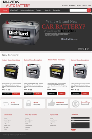 Automotive Website For New Product Design 1014732