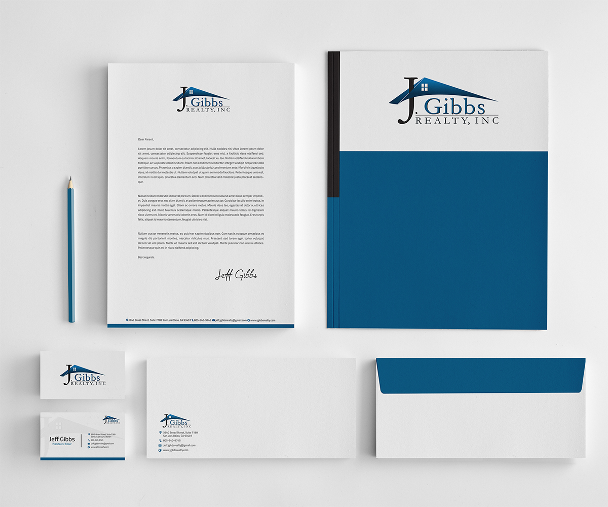 Letterhead Envelopes: Business Stationery Design For JC Gibbs Realty By Owtee