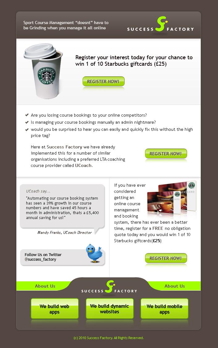 Newsletter Designer | Elegant Playful Call Newsletter Design For Success Factory By