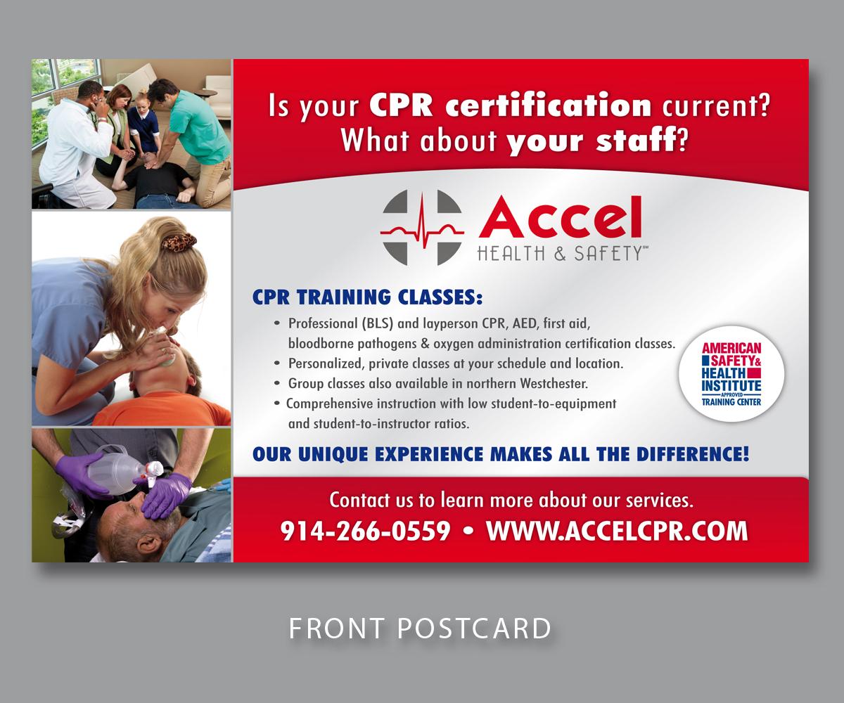 CPR training postcard | Postcard Design Contest | Brief #550316