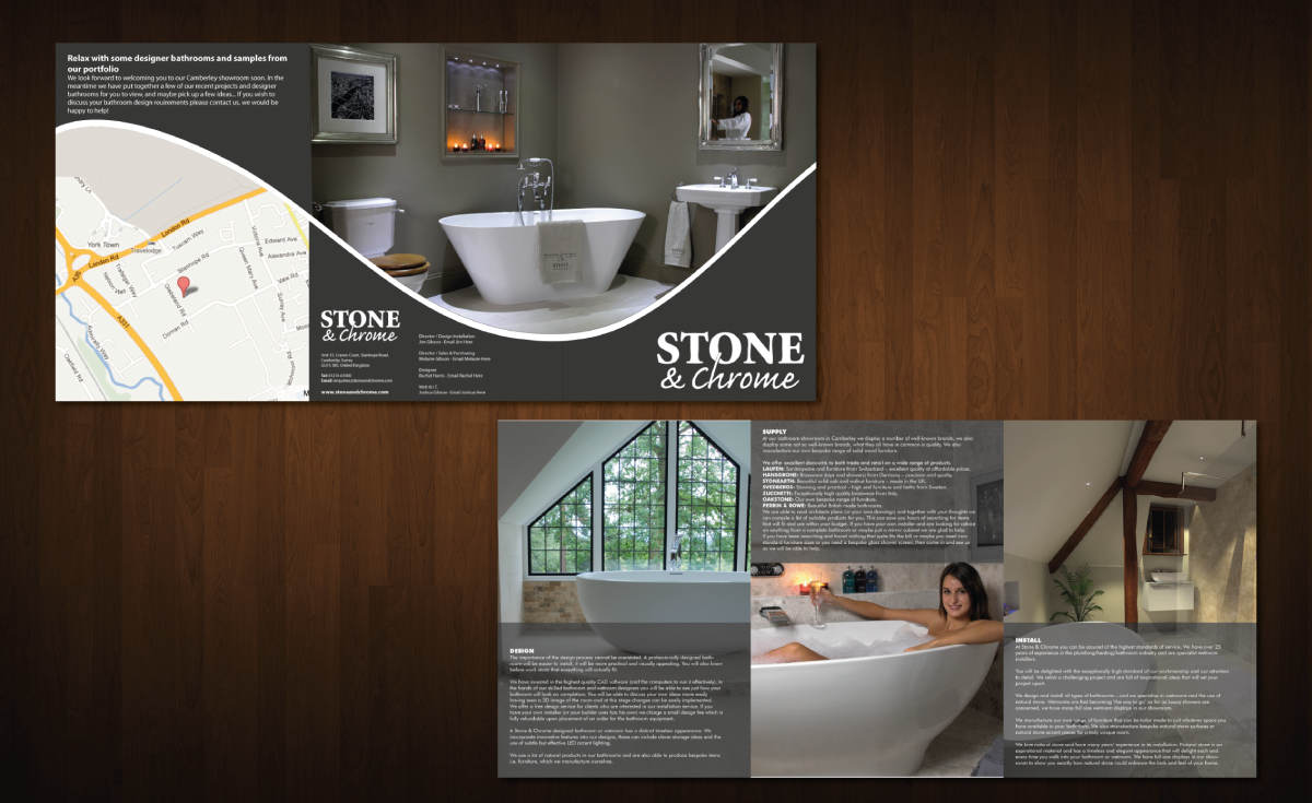 Modern Professional Brochure Design For Stone Chrome By Dots Coms Design 976415