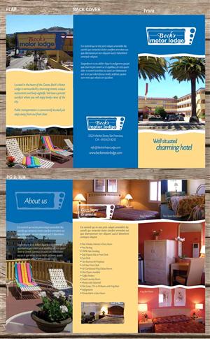 Masculine colorful brochure design job brochure brief for Design hotels jobs