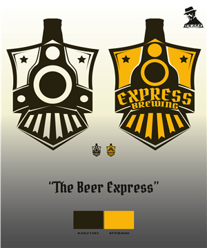 Graphic Design by lagoon - Express Brewing - Brand Identity Design