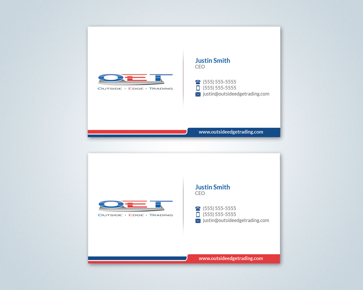 48 professional business card designs for a business in united states business card design design 3758712 submitted to outside edge trading business card design magicingreecefo Gallery