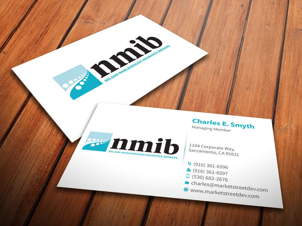 Business card design for karen botica by mediaproductionart design business card design by mediaproductionart for groovy little insurance brokerage needs a new look design reheart Image collections