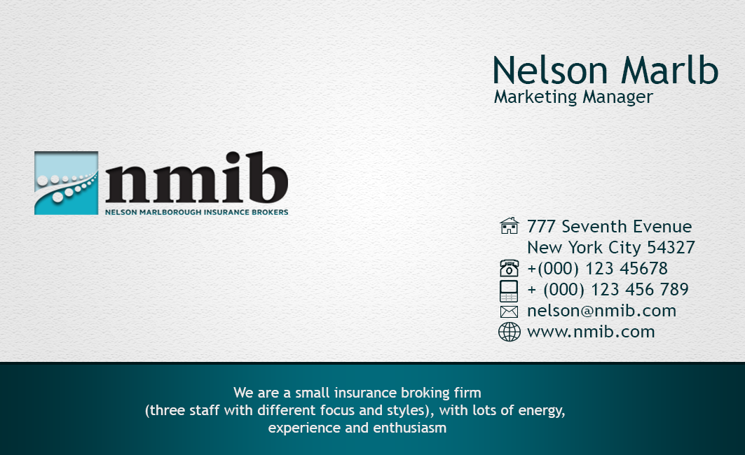 Business business card design for a company by cendana art design business business card design for a company in new zealand design 3689595 reheart Choice Image