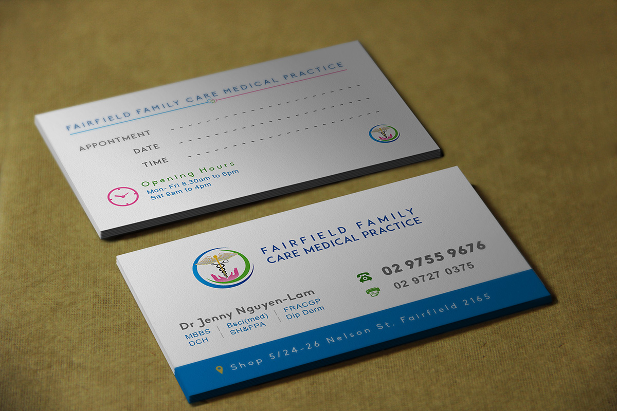 Professional, Bold, Medical Business Card Design for Fairfield ...