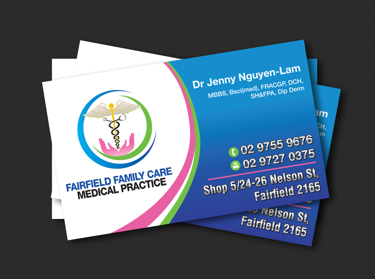 Business Card Design By JLG Studios For Family Care Medical   Design  #3693601