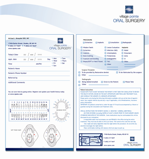 Stationery Design job – Oral Surgery Office Referral Form and Stationary designs. – Winning design by Diva