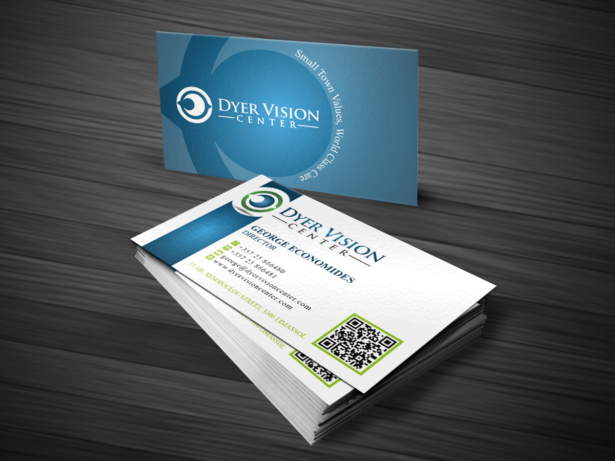 Healthcare Business Card Design for Dyer Vision Center by MT ...